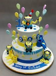 Kids Birthday Cake Minions Picture Of Deliciae Patisserie