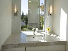 surprising wall mount lights marble sink in the bathroom with a plain wall