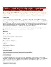Physician Assistant Sample Resume School Physician Sample Resume Podarki Co