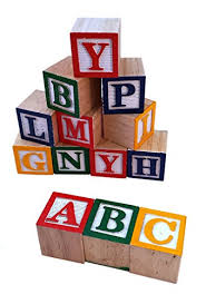 30 alphabet blocks with letters colors wooden toddler preschool kindergarten building toy wood reading stacking with carrying tote skoolzy