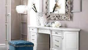 Modern White Vanity Table Gallery Of Modern White Bedroom Vanity ...