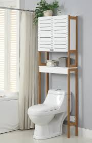 bathroom storage over toilet. Simple Over Amazoncom Organize It All Natural Bamboo Over The Toilet Bathroom Storage  Space Saver Cabinet With Mounts Home U0026 Kitchen Throughout D