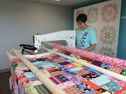 The Funky Seamstress & Sparrow Quilt Co. opened up a long arm quilting studio above Quiltessential  in St. Albert, and I get to rent time on these beautiful machines! Adamdwight.com