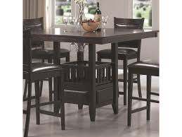 Coaster Jaden Square Counter Height Table With Center Storage