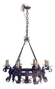 Kronleuchter Schmiedeeisen Decken Kerze Eisen 14912421