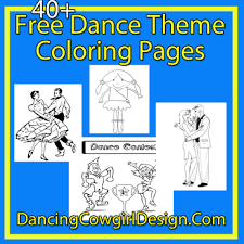 Dance Coloring Pages Free Printables Dancing Cowgirl Design