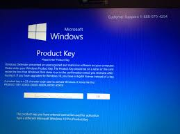 Microsoft Windows 10 Product Key Scam Resolved Malware Removal