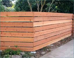 Horizontal Wood Fence Diy Horizontal Fence Designs Enchanting Wood