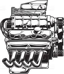 Supercharged engine stock vector art more images of car 638603838