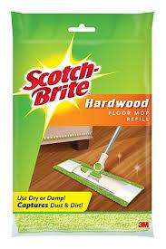 scotch brite microfiber hardwood floor mop refill 1 count