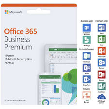 Microsoft Office 365 Pricing Microsoft Office 365 Business Premium 1 Person 12 Months Card