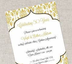 50th Wedding Anniversary Invitation Cards Templates Wedding Cards