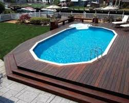 square above ground pool. Above Ground Pools With Decks Cost Of Pool Deck Installed 8 Best Square