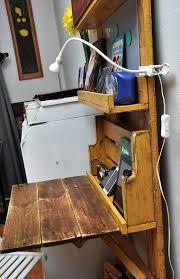 Fold Up Shelf Computer Desk Made Out Of Pallets Shelf