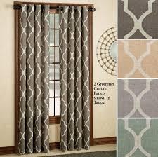 Modern Curtain Panels For Living Room Interior Design Elegant Medalia 2 Grommet Geometric Curtain