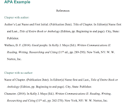 Apa Reference Example No Author Reference List Authorauthors