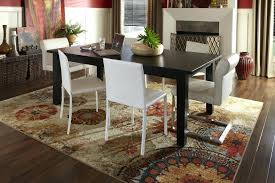 area rug under dining room table rugs for new no tables best un