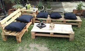 pallet outside furniture. Pallet Lawn Furniture Garden Making . Wooden Patio Outside