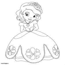 Superbe Dessin Princesse Sofia A Imprimer Et Colorier A Partir De