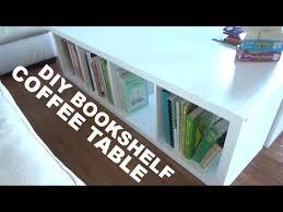 diy bookshelf coffee table part 1