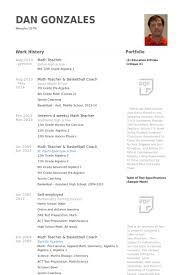 Math Teacher Resume Samples Visualcv Resume Samples Database