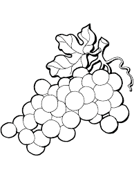 Raisins Coloring Page Grape Coloring Page Grape Coloring Pages Free