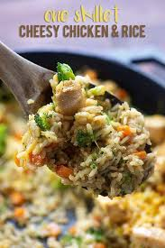 Add the chicken and spices and cook. One Skillet Cheesy Chicken And Rice With Broccoli Healthy Kid Friendly