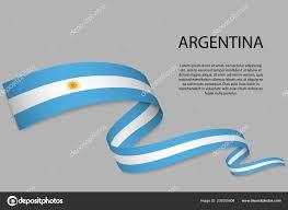 Argentina Banner Design Waving Ribbon Banner Flag Argentina Template Independence