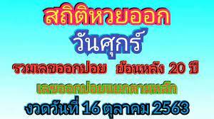 สถิติหวยออกวันศุกร์ ย้อนหลัง 20 ปี   เลขออกบ่อย   เลขออกบ่อยแยกตามหลัก งวด  16/10/63 - ข้อมูล มีประโยชน์กับคุณมากที่สุด - Kho gấu bông giá rẻ nhất Việt  Nam