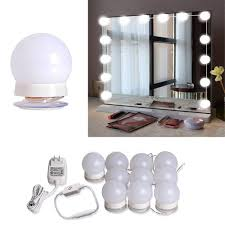 com mirror light roll over image to zoom in hollywood style vanity mirror lights led makeup vanity light kit with 10 dimmable bulbs