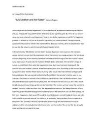 essay about mother