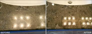 countertop marble polishing before after
