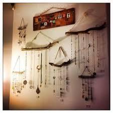 Suncatcher Display Stands Tall Slim Line Wood Necklace Jewelry Display Craft Ideas 5