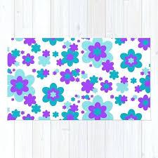 turquoise teal blue and purple fl rug bath purple fl rugs pink area