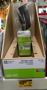 Commercial Electric Led Spike Light 187 681 Commercial Electric Led Lights Awesome Under Cabinet