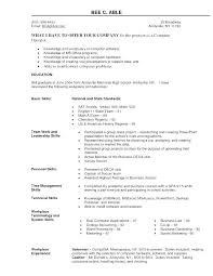 Computer Skills On Resume Examples List Of Resumes Good How To List