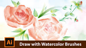 free watercolor brushes illustrator how to draw with watercolor brushes in adobe illustrator youtube