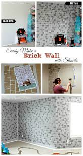 easily make a brick wall with stencils by busy mom s helper