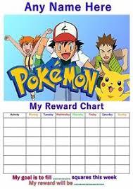 High Quality Pokemon Reward Chart Printable Pokemon Behavior