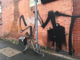 Video captures moment man tags 'Banksy' artwork in Nottingham -  Nottinghamshire Live