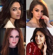 find out what is mon between deepika padukone priyanka chopra selena gomez and julianne