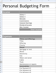 Budget Forms For Home 7 Free Printable Budgeting Worksheets For The Home Budgeting