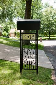 metal mailbox post designs. Contemporary Post Branches Mailbox Stand By Trellis Art Designs In Metal Post Pinterest