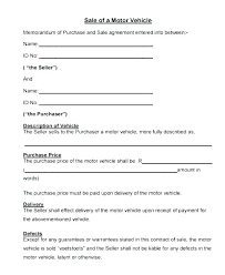 Personal Car Sale Agreement Payment Installment Contract Template Motor Vehicle Sale