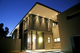 lighting design house. Roof Lighting Design. High Quality Exterior Home With Soffit And Glass Door Plus Sloping Design House