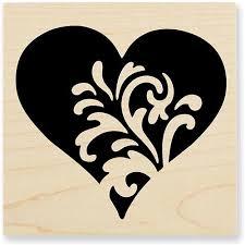 Scroll Heart Scroll Heart Foam Mounted Cling By Stampendous