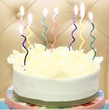 <b>16pcs</b>! <b>NEW color</b> curve birthday cake shape candles Spiral candle ...