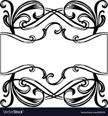 filigree ornament frame vector image
