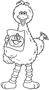 Small Picture Big Bird Draw Sesame Street Coloring Pages Pinterest Big