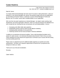 leading professional general manager cover letter examples general manager cover letter sample
